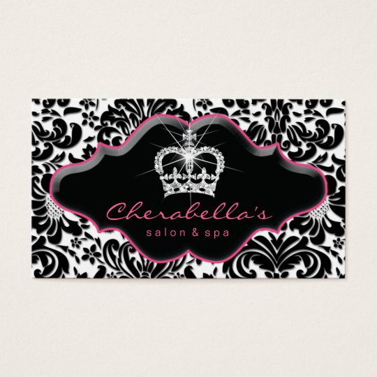 232 jewellery princess crown floral damask business card zazzle 232 jewellery princess crown floral damask business card reheart Gallery
