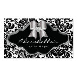 232 Salon Spa Silver Bow Jewel Damask