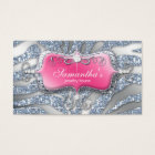 232 Sparkle Jewellery Zebra Pink Silver Business Card