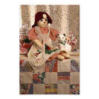 2390 Snowman Doll on Quilt Christmas Photo