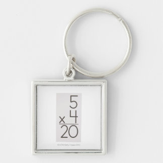 23972433 Silver-Colored SQUARE KEY RING