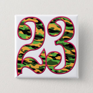 23 Age Camo 15 Cm Square Badge