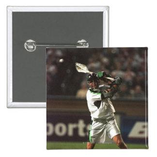23 Aug 2001: Paul Gait #3 takes a reverse shot 15 Cm Square Badge