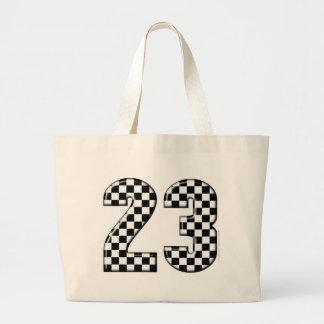 23 auto racing number jumbo tote bag