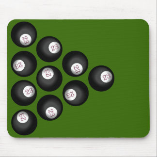 23 Ball of Chaos Pool Table Mouse Mat