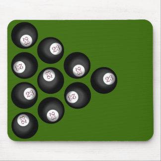 23 Ball of Chaos Pool Table Mouse Pad