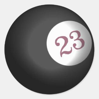 23 Ball of Chaos Round Sticker