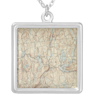 23 Carmel sheet Silver Plated Necklace