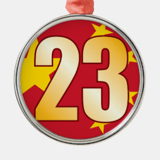 23 CHINA Gold Christmas Ornament