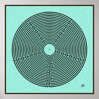 23 Circuit Labyrinth Poster