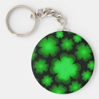 23 Four Leaf Clovers Key Ring