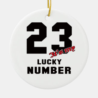 23 It's my lucky number Round Ceramic Decoration