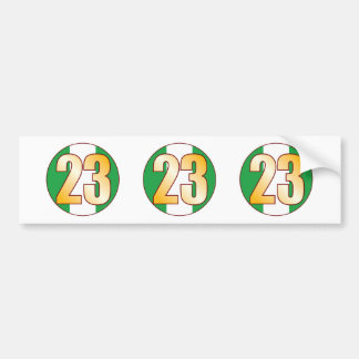 23 NIGERIA Gold Bumper Sticker