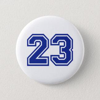 23 - number 6 cm round badge