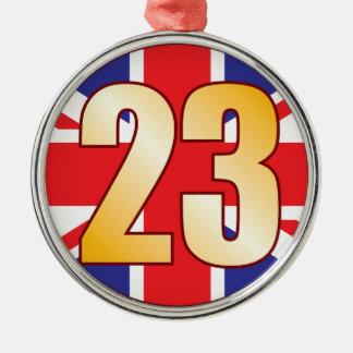 23 UK Gold Christmas Ornament