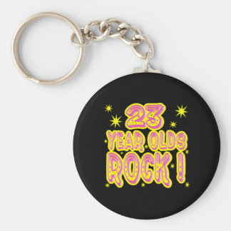 23 Year Olds Rock! (Pink) Keychain