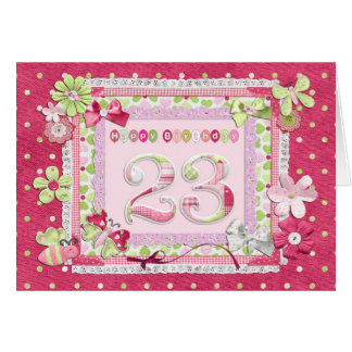 23rd birthday scrapbooking style card
