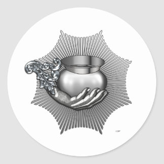 23rd Degree: Knight of Valor Round Sticker