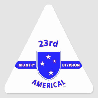 """23RD INFANTRY DIVISION """"AMERICAL"""" PRODUCTS TRIANGLE STICKER"""