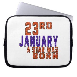 23rd January a star was born Laptop Sleeve