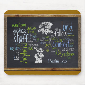 23rd Psalm Chalkboard 1 Mouse Pad