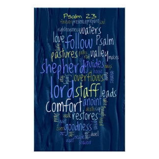 23rd Psalm Flowing Water Poster