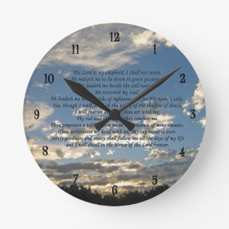 23rd Psalm Round Clock