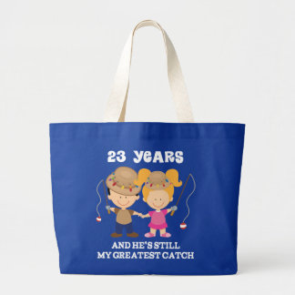 23rd Wedding Anniversary Funny Gift For Her Large Tote Bag
