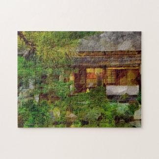 241 JAPANESE GARDEN TEA HOUSE VISITOR JIGSAW PUZZLE