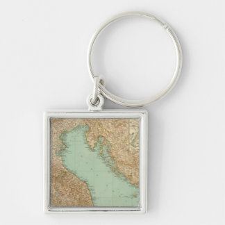 2426 North Italy Silver-Colored Square Key Ring