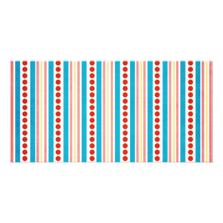 245_shellfish-paper-stripes STRIPES RED BLUE PINK Photo Cards