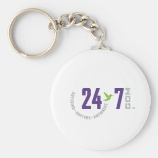 24-7.com Final Color OL Basic Round Button Key Ring