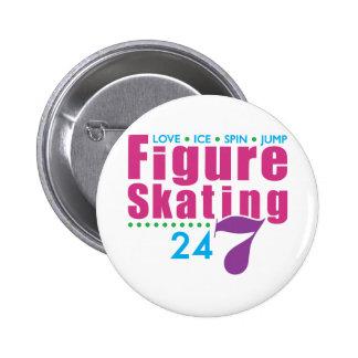 24/7 Figure Skating 6 Cm Round Badge