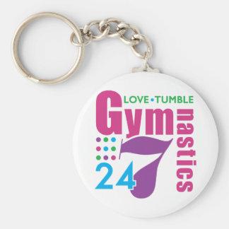 24/7 Gymnastics Basic Round Button Key Ring