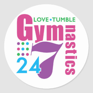 24/7 Gymnastics Classic Round Sticker
