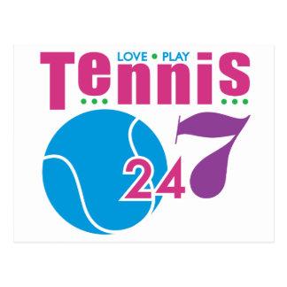 24 7 Tennis Post Card