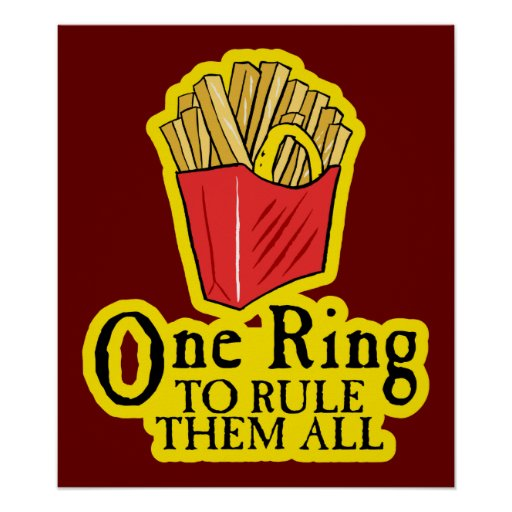 One Ring To Rule Them All Ring To Find Them One Ring To: $24.95 One Ring To Rule Them All Poster