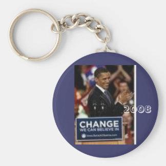 #24 Barack Obama, 2008 Basic Round Button Key Ring