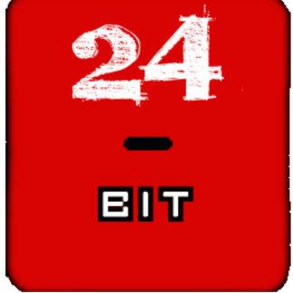 24-Bit logo cutout Standing Photo Sculpture