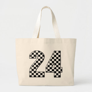 24 checkers flag number canvas bags