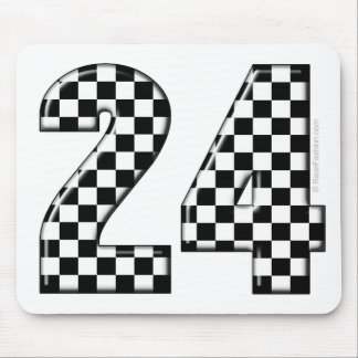 24 checkers flag number mouse pad