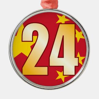 24 CHINA Gold Christmas Ornament