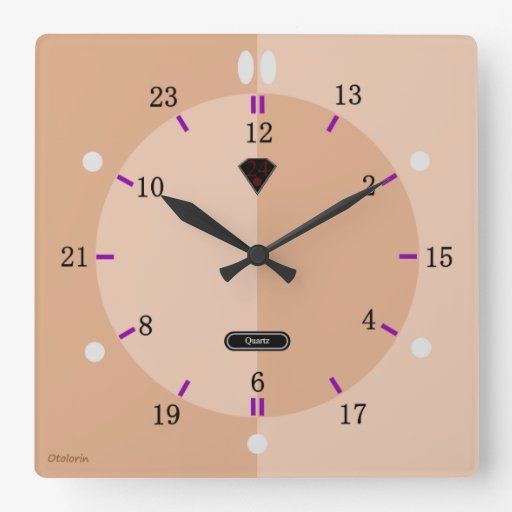 24 hour Wall Clock (Apricot)