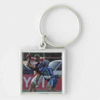 24 Jun 2001:  Ryan Powell #22  Rochester Silver-Colored Square Key Ring