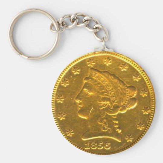 24 karat gold key ring