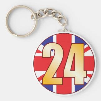 24 UK Gold Basic Round Button Key Ring