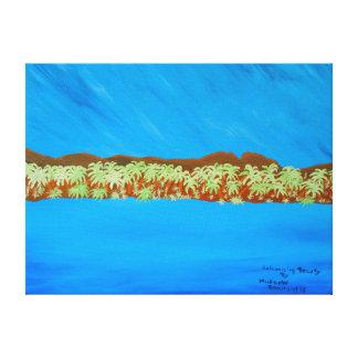 "24""x18"" Size Acrylic Painting ""Galvanizing Beauty"" Canvas Print"