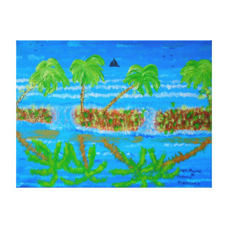 """24""""x18"""" Size Acrylic Painting Of """"Open Places"""" Canvas Print"""