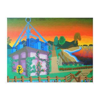 """24""""x18"""" Size Acrylic Painting Of """"Sacred Place"""" Canvas Print"""