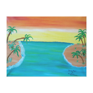 """24""""x18"""" Size Acrylic Painting Of """"Sunny Days"""" Canvas Print"""